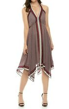 MICHAEL Michael Kors Border-Print Halter Dress L