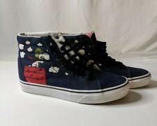 Vans Snoopy vs Red Baron Skateboarding Blue Hi-Back Shoes Men's 6; Women's 7.5