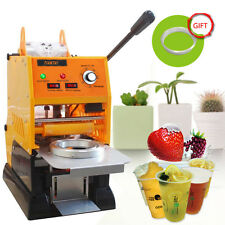 New Semi-automatic Electric Bubble Tea Cup Sealing machine Cup Sealer 220V 315W