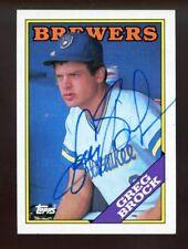 Greg Brock Autograph Signed 1988 Topps Milwaukee Brewers