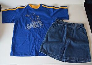 DISNEY KIDS summer short SET Boys size 6/7 NWT Skate skateboarder jean shorts