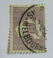 1929 Australia  SC #97 Kangaroo Map  Used stamp  Wmk 203