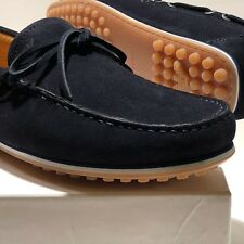 NEW Armani Navy Blue 8.5 41.5 Boat Loafers Men's Driver's Suede Shoes Casual