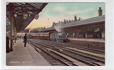 More details for larbert railway station: stirlingshire postcard (c27631)