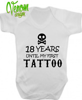 18 Years first tattoo vest alternative baby clothes rock punk metal band dragon