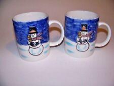 Tabletops Unlimited Holiday Season Snowman  12oz. Mugs. 2pc.