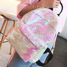 Women Glitter Bling Sequins Backpack Hiking Travel Backpack Shoulder Bags School