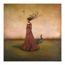 Duy Huynh Empty Nest Invocation Fantasy Flower Supernatural Print Poster 18x18