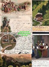 115890 6 AK Schwarzwald Litho 1897 Künstlerkarte Volkstrachten Schwarzwälderinne