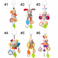 Baby Crib Pram Hanging Animal Handbell Rattles Stroller Car Seat Pushchair Toys