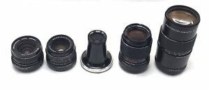 Vintage German M42 Five Lens Kit (Zeiss, Pentacon, Meyer Gorlitz) & Pelican Case