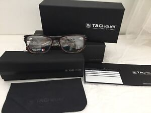 TAG HEUER Optical EyeGlasses Frame Brown Designer NEW Authentic FREE SHIPPING