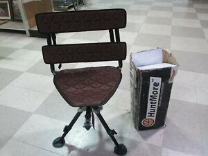 Pre Owned HUNTMORE 360 Rotation Swivel Blind Chair For Ground Blinds Archery Gun