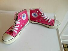 CONVERSE ALL STAR GIRLS PINK CANVAS ANKLE BOOTS SIZE 13