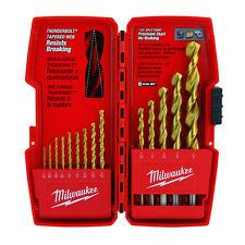 Genuine Milwaukee Thunderbolt® Titanium Coated Drill Bits (14 PC) 48-89-0011