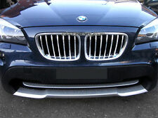 Chrome Front Grille Mesh Grill Garnish Surrounding Cover for BMW X1 2009-2014