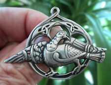 Scottish Silver Iona Celtic Alexander Ritchie Dove Brooch / Pendant - CAI 1950s