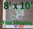 8' x 10' Clear Poly Tarp Room Divider Patio Porch Enclosure Fumigation Curtain