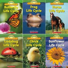 Life Cycles Lot 6 Science Early Leveled Nonfiction Readers Books Set BRAND NEW