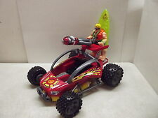 FISHER PRICE RESCUE HEROES DUNE BUGGY COMPLETE W/ SANDY BEACH
