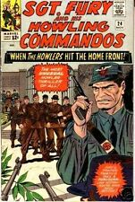 SGT FURY 24 SERGEANT & HIS HOWLING COMMANDOS 1963 MARVEL F+ NICK AGENT SHIELD