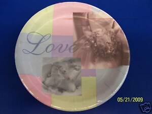 "To Have and to Hold Bridal Lavender Pink Wedding Party 7"" Plates"