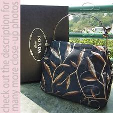 Vintage PRADA Woven Satin Floral Evening Handbag in Box