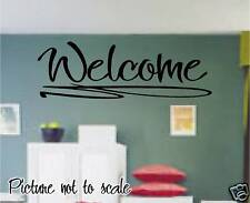 WELCOME large vinyl decal WALL ART - PERFECT HOME DECOR