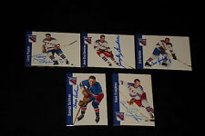LOT OF (9)  PARKHURST NY RANGERS 1956-57 REPRINTS SIGNED AUTOGRAPHED CARDS
