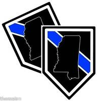 POLICE STATE OF MISSISSIPPI THIN BLUE LINE BUMPER CAR STICKER DECAL MADE IN USA