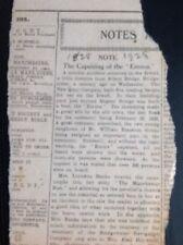 Q1-j Ephemera 1928 Article The Capsizing Of The Emma 1828