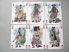 PIRATES BY GRIMAUD WIDE NON STANDARD BRUNEAU DESIGN PLAYING CARDS VINTAGE 52+2J+