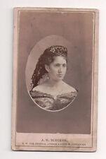 Vintage CDV Ohio Society Beauty Photo by J.M. Blecker Cincinnati