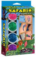 Safari'O Glitter Tattoo Kit - Safari, Zoo & Jungle Animals temporary tattoos