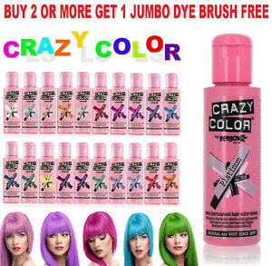 Crazy Color Hair Colour Semi Permanent  Dye Conditioning Hair 100ml Fast Postage