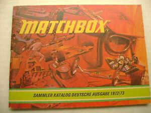 1972/73 GERMAN MATCHBOX SUPERFAST SAMMLER KATALOG DEUTSCHE AUSGABE