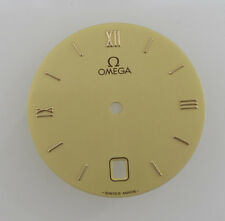 26mm Original Omega Watch Dial Part Date at 6 O'clock Gold