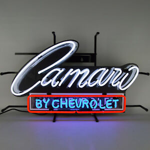 2018 Camaro by Chevrolet Neon Sign Licensed by Chevy GM SS Z28 ZL1 LS LT Lamp