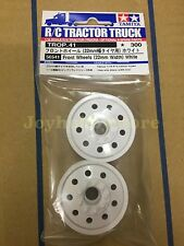 Tamiya 56541 1/14 RC 22mm Front Wheels 2pcs - White for Tractor Trucks