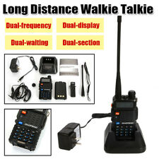 Handheld Dual-frequency Dual-display Ultra Long Distance Walkie Talkie w/Charger