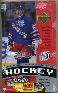 1 1998-99 UPPER DECK SERIES 2 HOCKEY HOBBY BOX WAYNE GRETZKY DUAL AUTO JERSEY