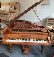 More details for antique golden era german grand piano by f. kaim & sohn 88 keys - cis w39