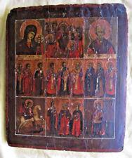 Original ruso icono 18./19.jhd con dictámenes/expertise 31,3cm x 26,5cm