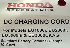 HONDA EU1000i EU2000i EU3000is 12v BATTERY CHARGING CORD 32650-892-010AH