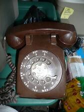 phone vintage rotary brown