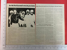 Jimmy Destri Farfisa organ press feature / article from 1978 Blondie