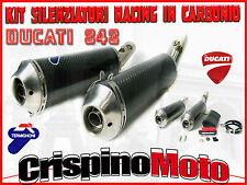 DUCATI EXHAUST TERMINALS - DUCATI 848 CARBON RACING SILENCER KIT