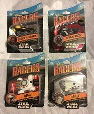 New DisneyParks Star Wars Racers Die-Cast Metal Body RaceCars R2D2 BB8 Kilo Maul