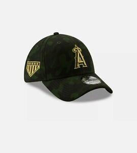 Los Angeles Angels New Era 2019 MLB Armed Forces Day 39THIRTY Flex Hat sz L-XL