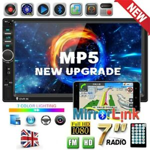 7inch 2 Double DIN Bluetooth FM USB Touch Screen Car Stereo Radio MP5 MP3 Player